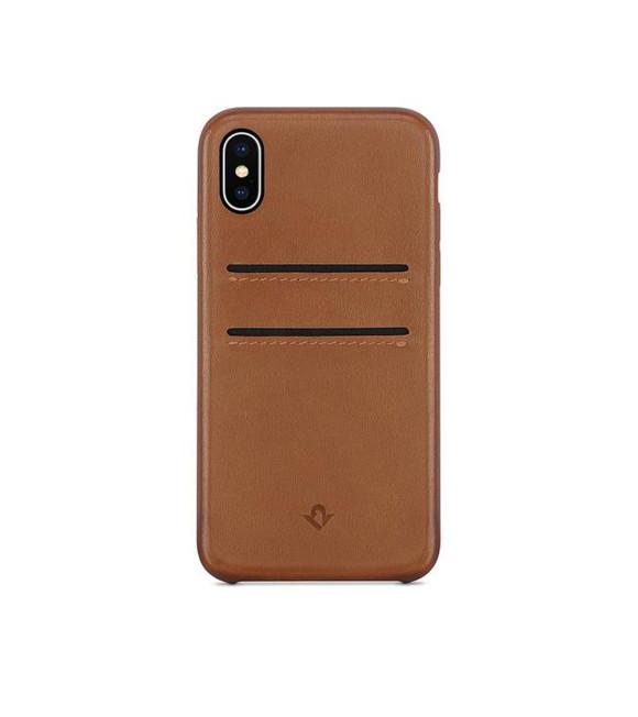 Twelve South Deri Kılıf iPhone X Cognac